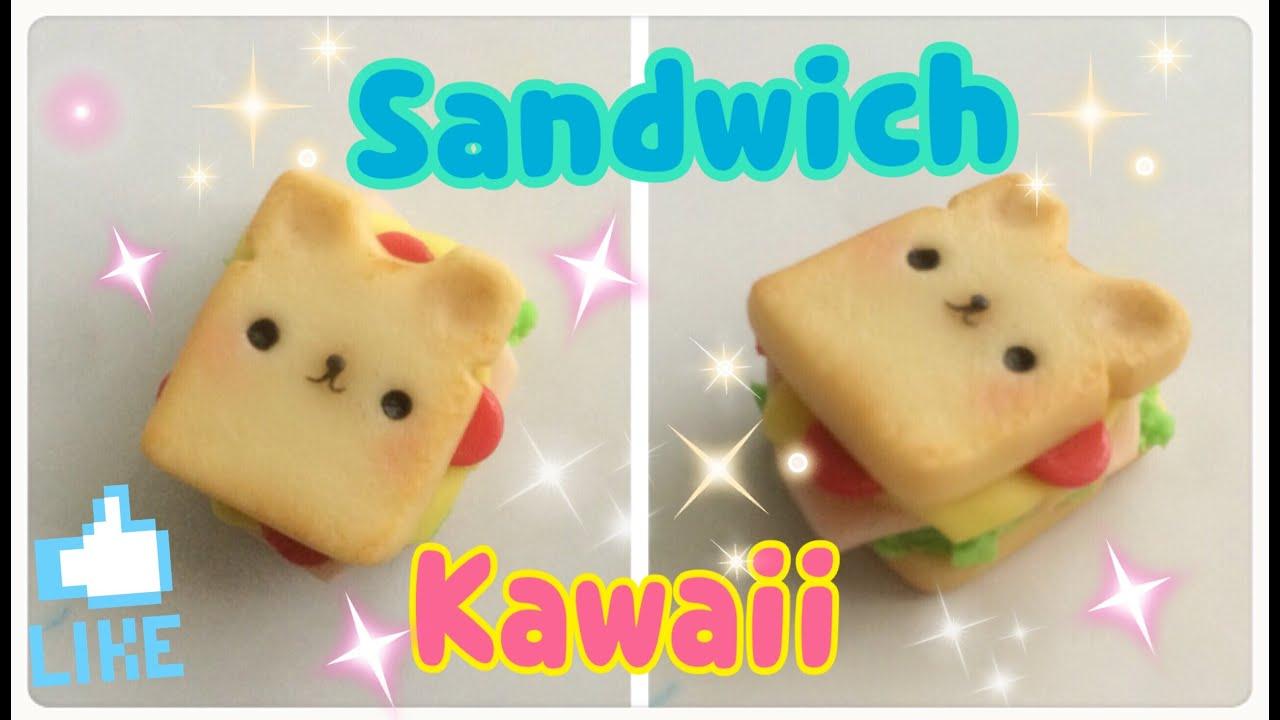 Sandwich Kawaii De porcelana fría / Manualidades Kawaii Fáciles