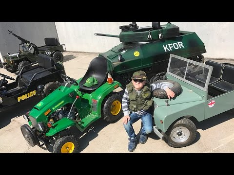 Little Heroes COMPILATION Kid Cop 🚔 👮Jack's Best Children Motor JEEPS, TRACTORS + TANKS!