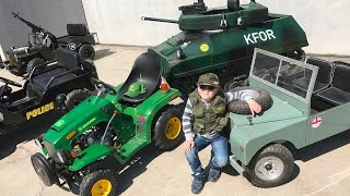 Little Heroes COMPILATION Kid Cop ???? ????Jack's best Children Motor JEEPS, TRACTORS + TANKS!