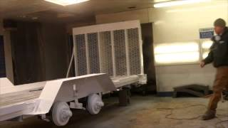 Hudson Bros. Equipment trailer is painted