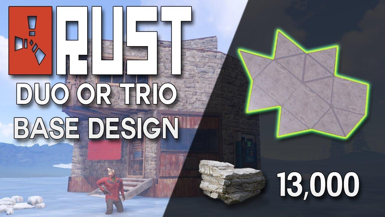 Rust Trio Base Design No Blueprints Needed Expandable