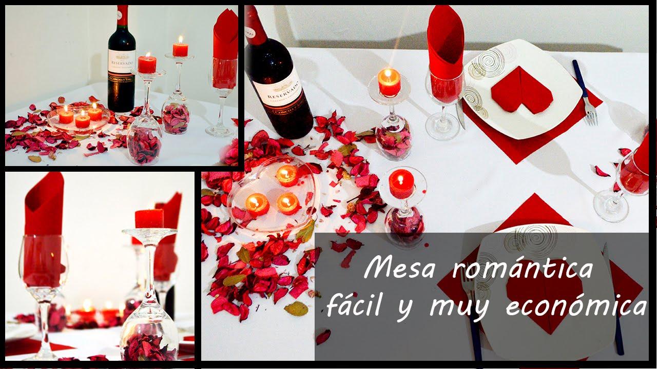 Mesa Romantica Facil Y Economica Youtube - Cena-romantica-decoracion