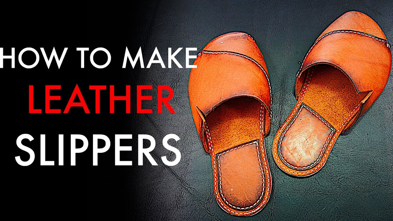 Diy Leather Slippers Tutorial And Pattern Download Youtube