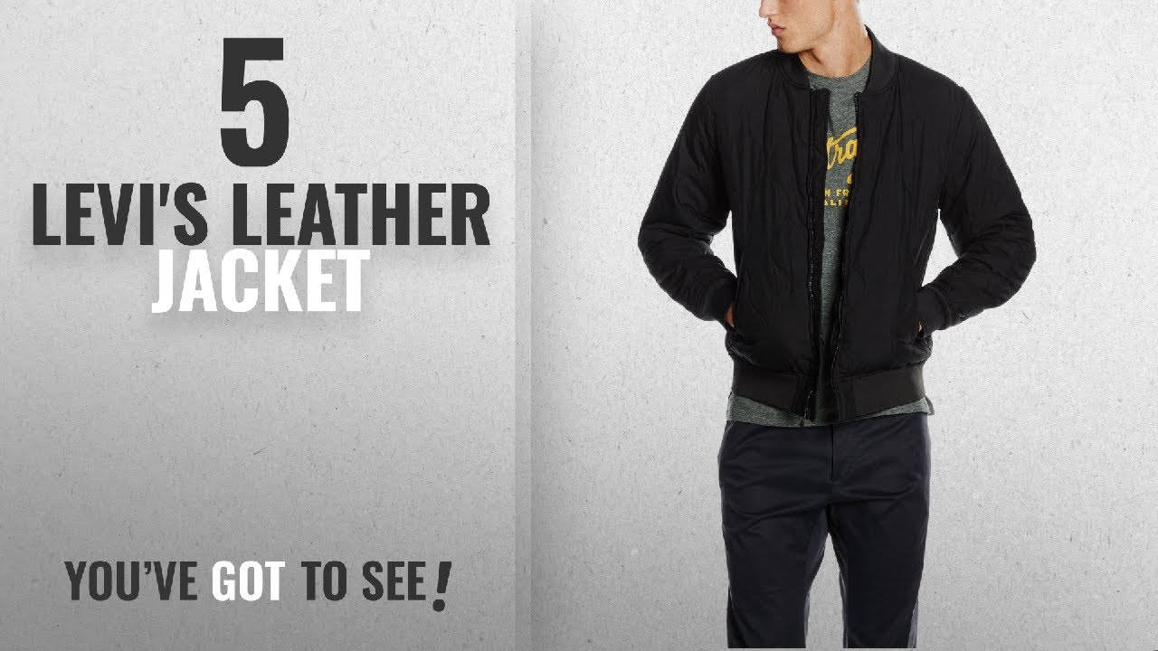 40d55fd46 Top 10 Levi'S Leather Jacket [2018]: Levi's Men's Thermore Quilted Bomber  Jacket