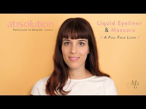 Absolution's New Liquid Eyeliner & Mascara // Sweet & Safe Full Face Look