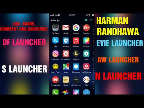 TOP FIVE BEST ANDROID LAUNCHERS....