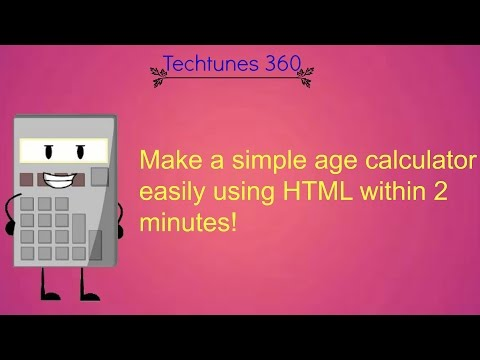How To Make A Simple Age Calculator Easily Using Html