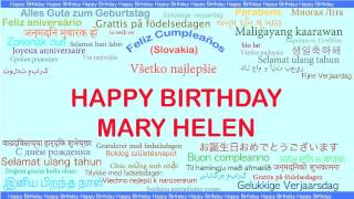 MaryHelen   Languages Idiomas - Happy Birthday