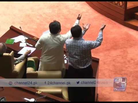 24 Report: Red bag cause great disturbance in Sindh Assembly