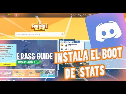 Como AGREGAR  Un BOT De STATS | FORTNITE BATTLE ROYALE