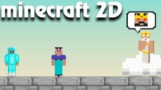 Noob vs cheater minecraft 2D all level! История Нубика и профессионала