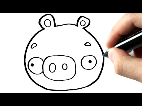 Inkscape Cartoon Tutorial - How To Draw Pig From Angry Birds