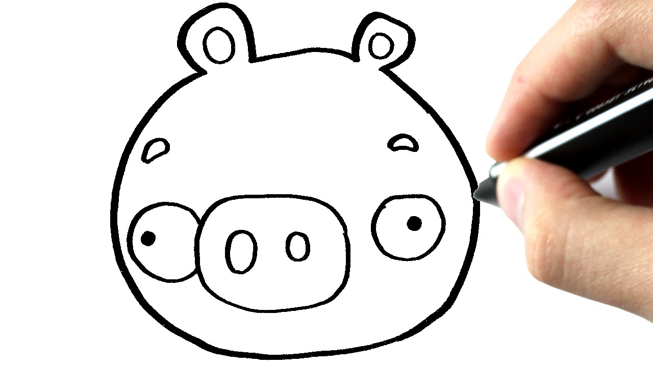 Comment dessiner un cochon angry bird tutoriel youtube - Cochon angry bird ...