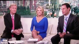Heather Nauert Legs and More in Blue Mini pt 1.