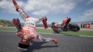 MotoGP 18 - Crash Compilation #5 (PC HD) [1080p60FPS]