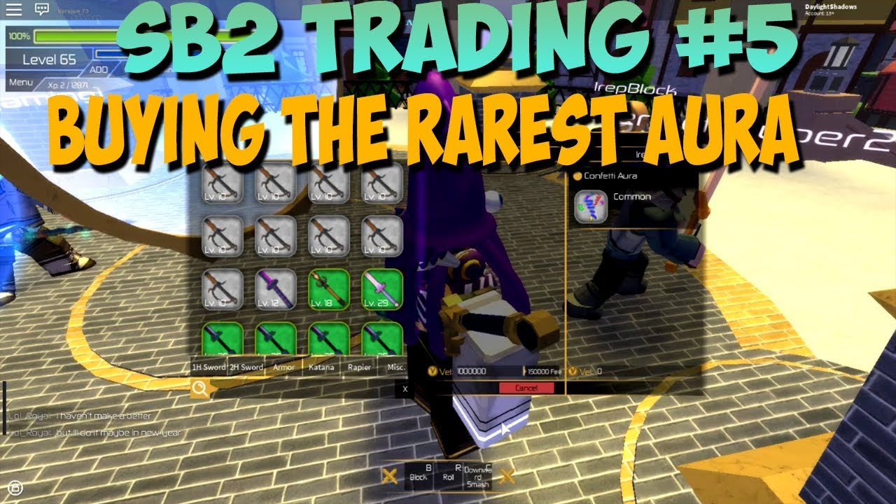 SB2 TRADING #5 - BUYING THE RAREST AURA IN THE GAME FOR 1 MILLION