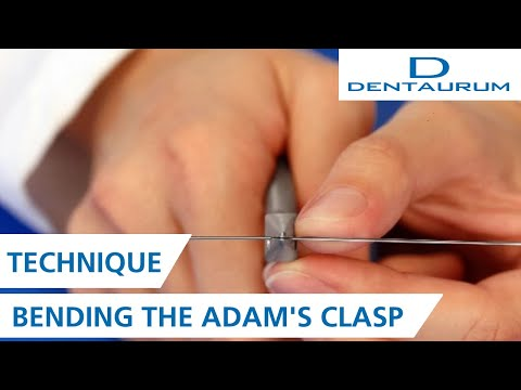 Bending The Adam's Clasps For Orthodontic Appliances