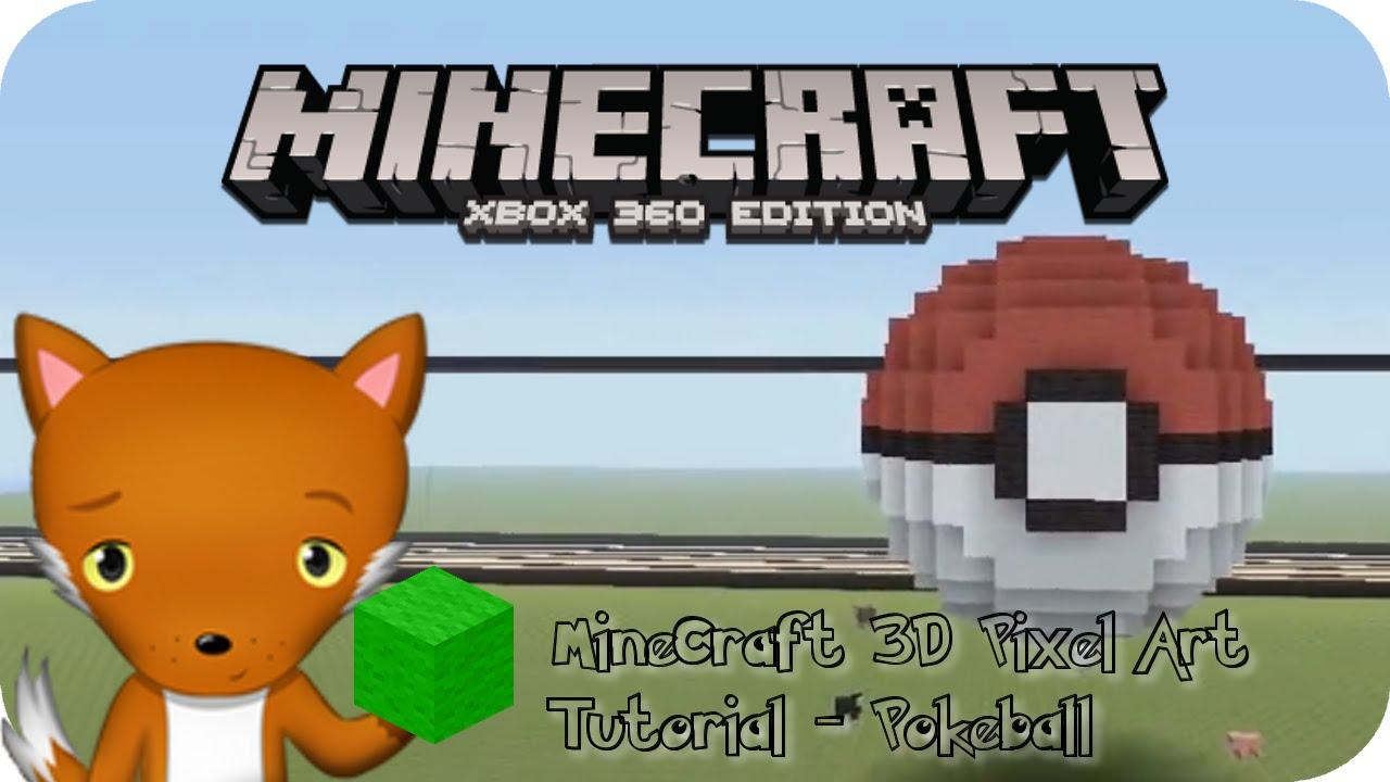 Minecraft 3d Pixel Art Tutorial Pokeball