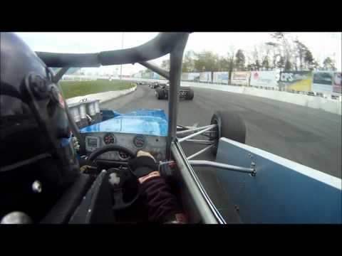 Shaun Gosselin Supermodified On-board Oswego Speedway May 5th Heat Race