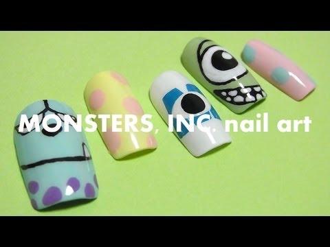 monsters . nail art