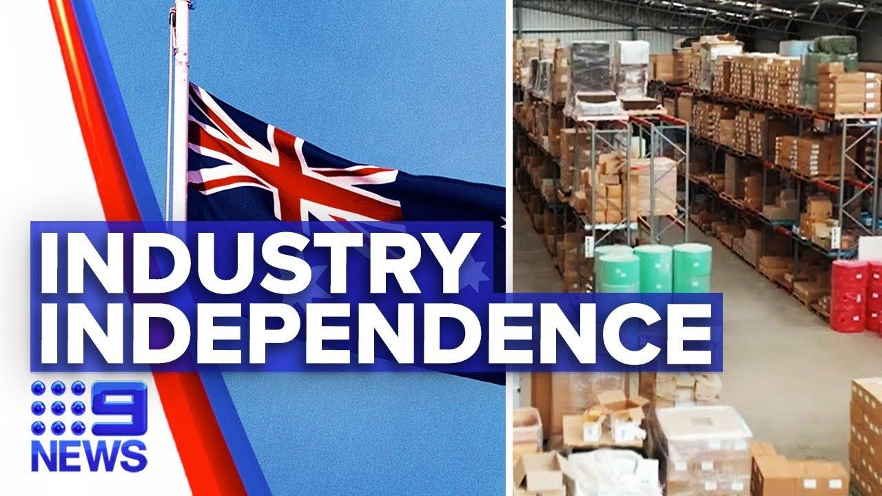 Coronavirus: Australia pushes for local manufacturing independence | Nine News Australia – 9 News Australia