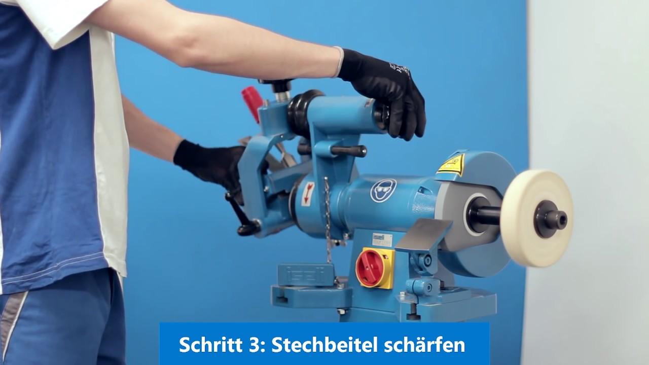 schärfmaschine für stechbeitel, stemmeisen und handhobel - youtube