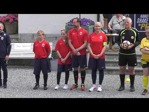 Norwegian Royals host football match