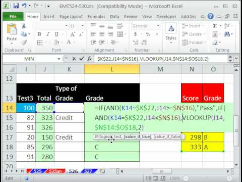 How to Create a pass-fail grade formula in Microsoft Excel