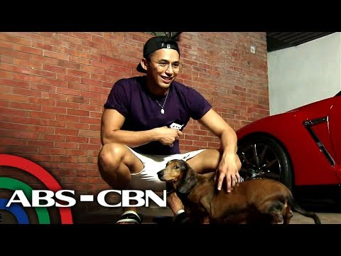 Enzo Pineda with his dogs Oscar and Pburg | Rated K