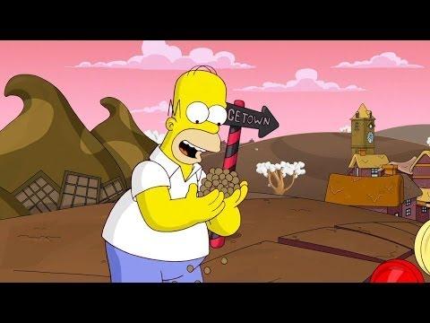 Прохождение The Simpsons Game с переводом часть 1 - Город Шоколада