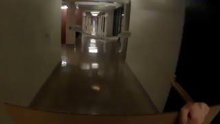 Paper Airplane Surfer Flight Down Infinite Corridor