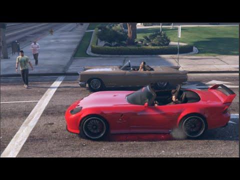 GTA 5 Slidey Cars Drifting Banshee RED LIGHT!   SLAPTrain