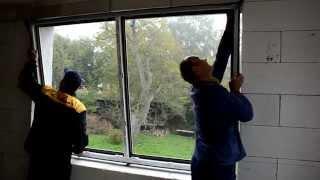 Montáž plastových oken v přístavbě