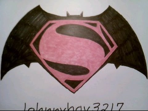How To Draw Batman Vs Superman Dawn Of Justice Logo Free Hand Sign Emblem Easy Step By