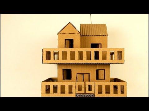 Como hacer una casa de cart n two floors cardboard house youtube - Como hacer una casa de carton pequena ...