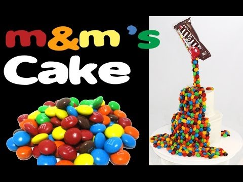 M&M's Rainbow Cake! How to make a Gravity Defying M&M Candy Cake with Cupcake Addiction
