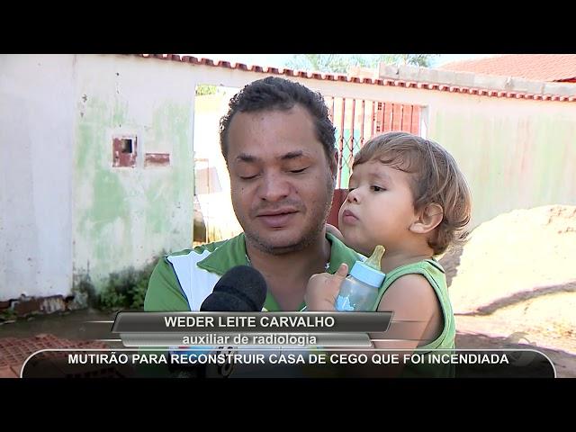 JMD (25/02/19) - Homem cego consegue ajuda para construir casa incendiada