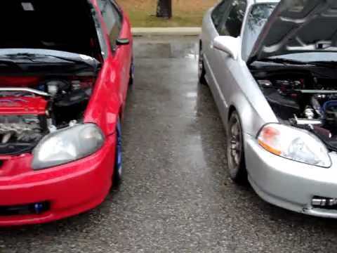 MY 2 EK CIVIC JDM F20B and JDM H22A turbonetics turbo swap Honda civic's s300 - YouTube
