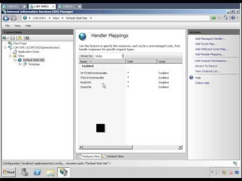 IIS Handler Mapping