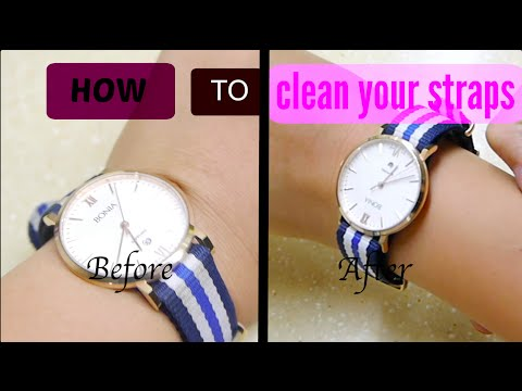How to clean / wash your NATO STRAP (DW + BONIA) | Tutorial INDONESIA
