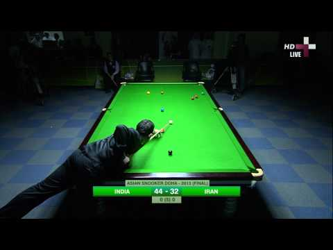ASIAN SNOOKER DOHA - 2013 (FINAL) INDIA VS IRAN