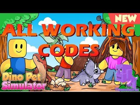 roblox dino pet simulator codes