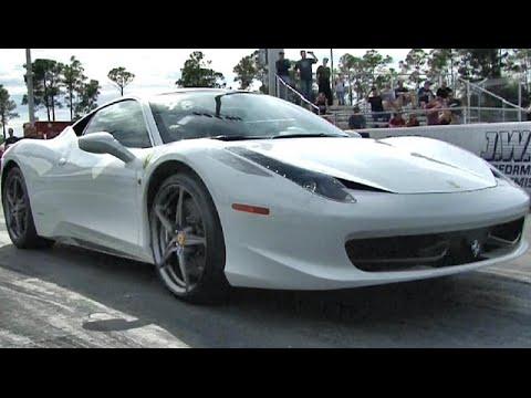 562 hp ferrari 458 v 550 hp audi r8 v10 plus 1 4 mile. Black Bedroom Furniture Sets. Home Design Ideas