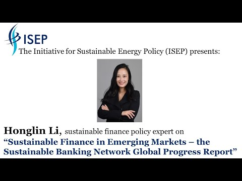 Sustainable Finance in Emerging Markets – the Sustainable Banking Network Global Progress Report