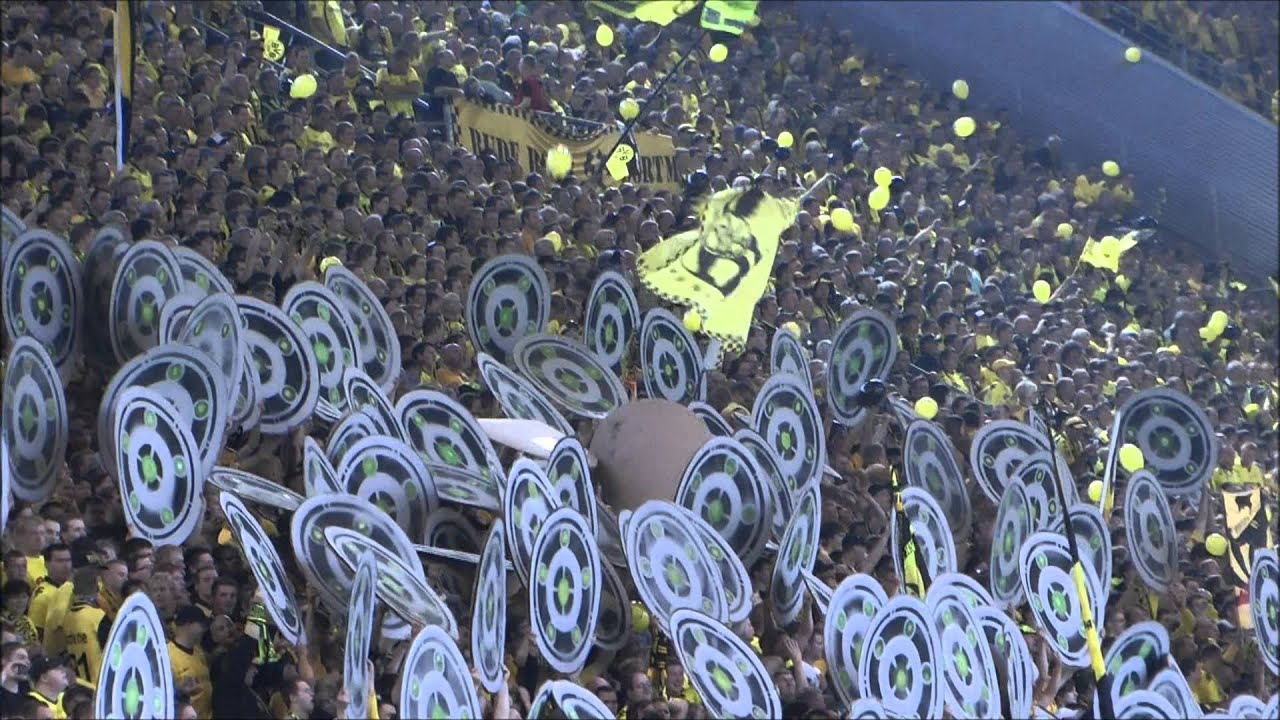 Choreo Borussia Dortmund - Hamburger SV 3-1 Nationalhymne BVB vs HSV