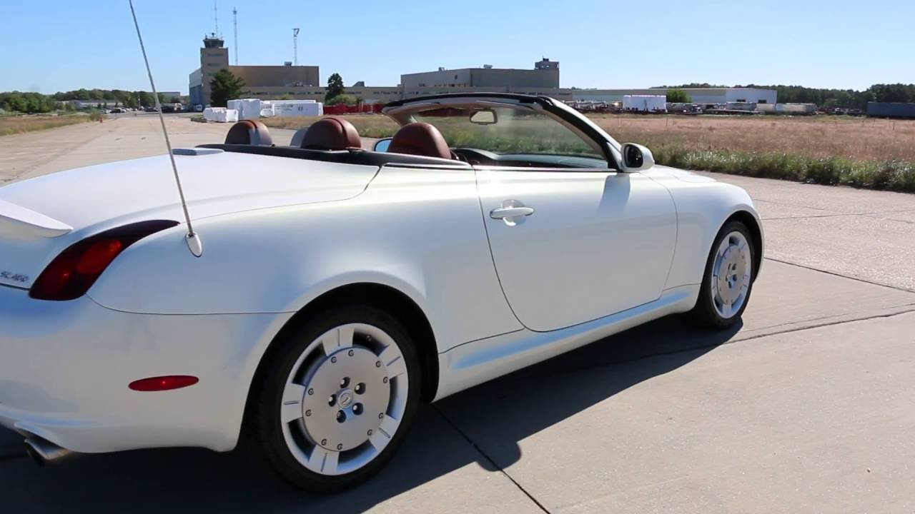 2002 lexus sc430 hardtop convertible for sale pearl white. Black Bedroom Furniture Sets. Home Design Ideas