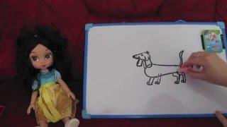 Научиться рисовать видео урок рисования Рисуем просто по шагам Собачку Таксу(Научиться рисовать видео урок рисования Рисуем просто по шагам Собачку Таксу Video Drawing lesson Drawing a stepping doggy..., 2016-04-02T07:01:36.000Z)