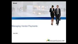 Microsoft Dynamics AX: Yönetme Satıcı Ödemeleri