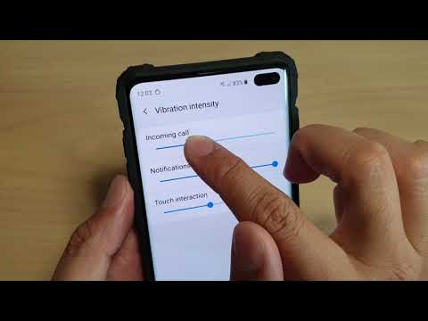 Samsung Galaxy S10 / S10+: How to Change Vibration Intensity