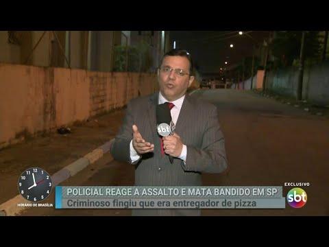 Policial reage a tentativa de assalto e mata criminoso em São Paulo   Primeiro Impacto (20/06/18)
